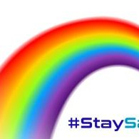 Stay safe, stay home, rainbow, easyactive8, astro durance, bungee fitness, gym equipment, stay active